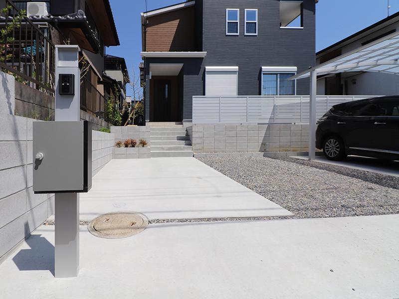 フォーセンス完成 機能門柱|滋賀で家を建てるなら匠工房