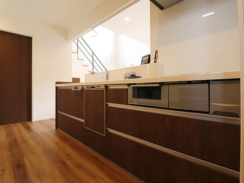 ゼロキューブ新築 キッチン|滋賀で家を建てるなら匠工房