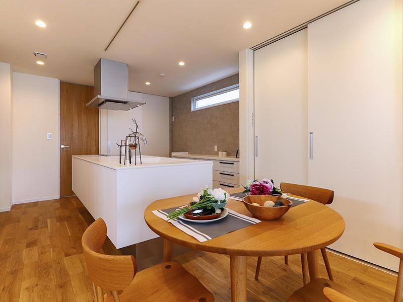 二世帯住宅フォーセンス新築完成|キッチン・ダイニング