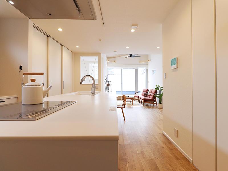 二世帯住宅フォーセンス新築完成|リビング・ダイニング・キッチン