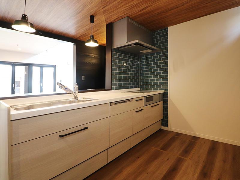 新築ゼロキューブマリブ完成 システムキッチン|滋賀で建てるなら匠工房