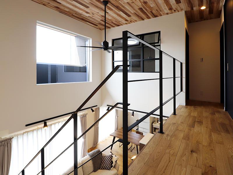 フォーセンス完成 2階廊下|滋賀で家を建てるなら匠工房