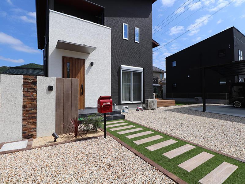 新築フォーセンス完成 エントランス|滋賀で家を建てるなら匠工房