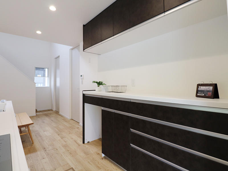 新築フォーセンス完成 キッチン収納|滋賀で家を建てるなら匠工房