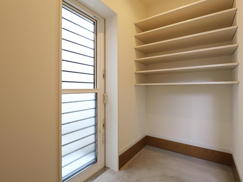 新築フォーセンス完成 土間収納スペース|滋賀で家を建てるなら匠工房