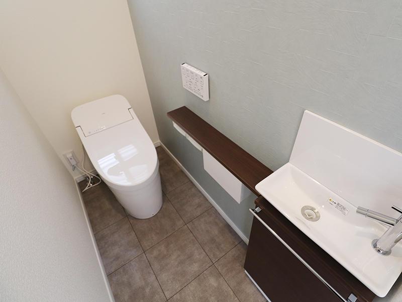 新築フォーセンス完成 1階 トイレ|滋賀で家を建てるなら匠工房