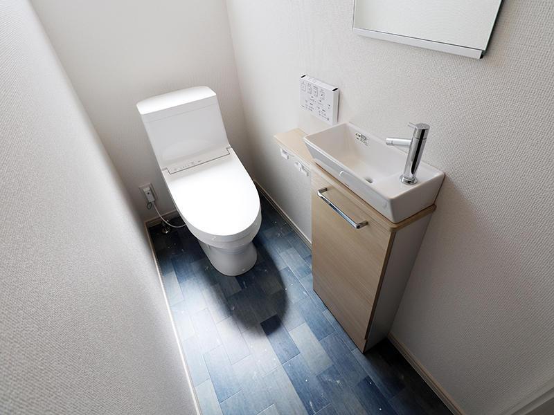 ゼロキューブ新築完成 2階:トイレ|滋賀で家を建てるなら匠工房