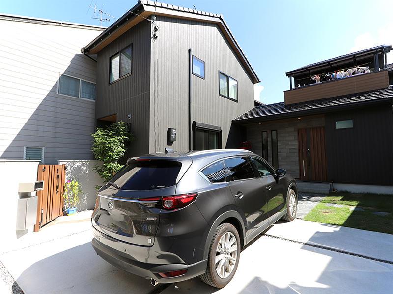 新築フォーセンス完成 外観・駐車場|滋賀で家を建てるなら匠工房