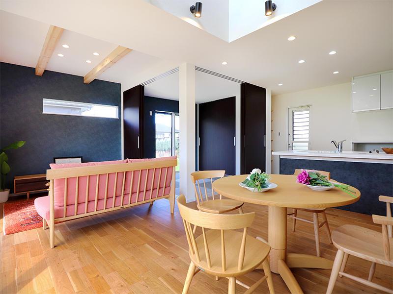 フォーセンス新築完成 リビング・キッチン・ダイニング|滋賀で家を建てるなら匠工房
