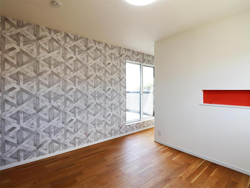 フォーセンス新築完成 アクセントクロス サンゲツ FE6009|滋賀で家を建てるなら匠工房