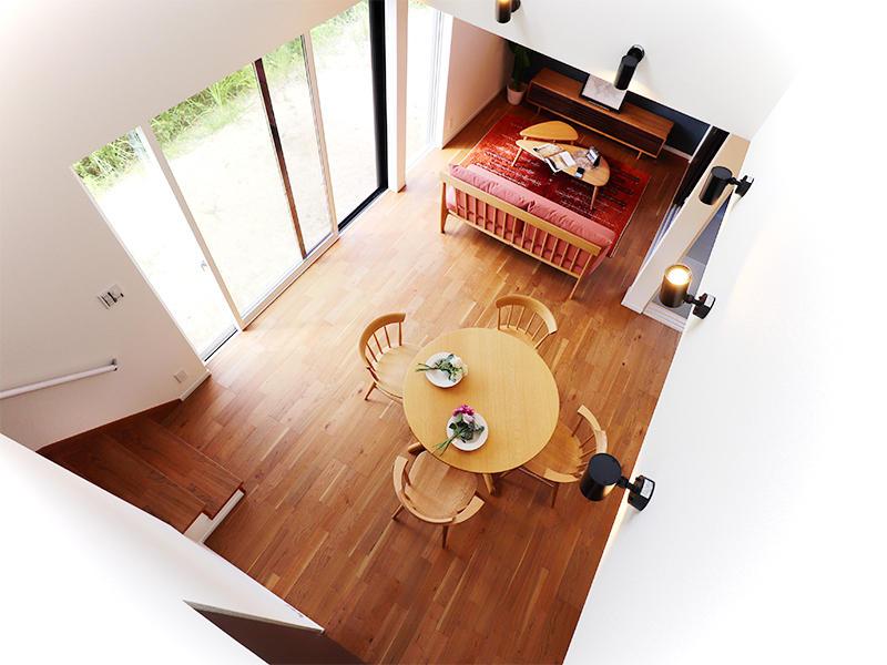 フォーセンス新築完成 吹き抜け|滋賀で家を建てるなら匠工房