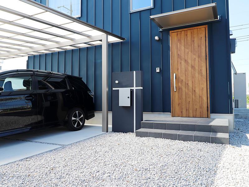 新築ゼロキューブ完成 アプローチ|滋賀で家を建てるなら匠工房