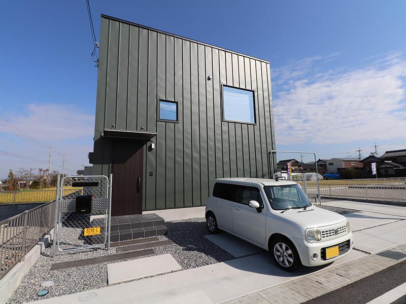 新築ゼロキューブ グリーンの外壁|滋賀で新築建てるなら匠工房