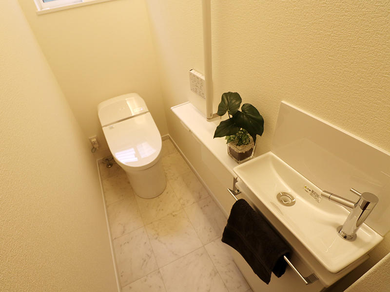 新築フォーセンス完成 1階トイレ|滋賀で家を建てるなら