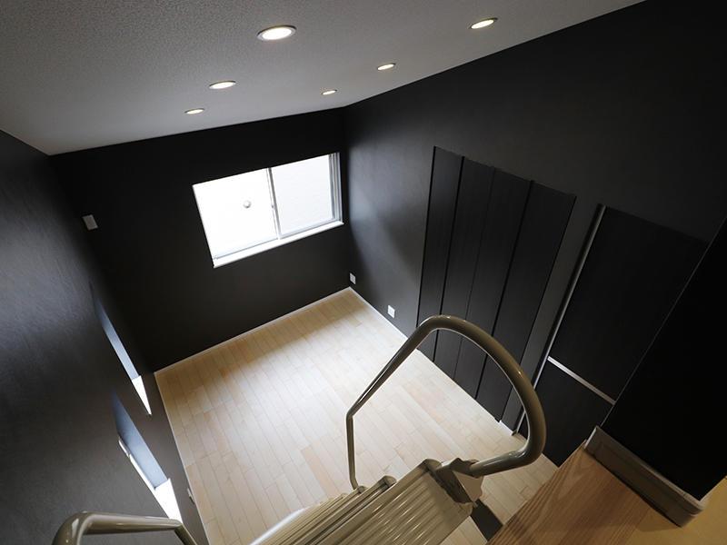 新築フォーセンス完成 ロフトから見下ろす|滋賀で家を建てるなら