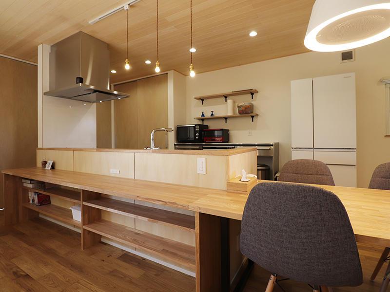新築完成 キッチン・ダイニング|滋賀で家を建てるなら匠工房
