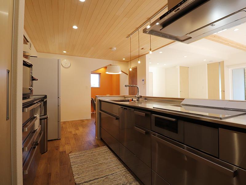 新築完成 キッチン クリナップ 総ステンレス|滋賀で家を建てるなら匠工房