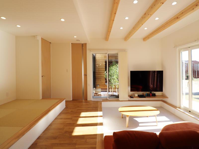 新築完成 リビングと和室|滋賀で家を建てるなら匠工房