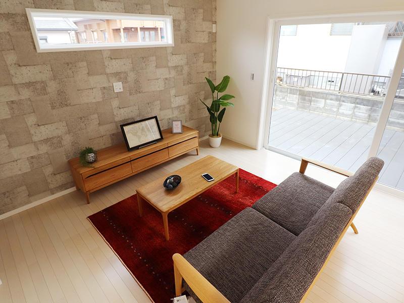 新築ゼロキューブ完成 リビング|滋賀で家を建てるなら匠工房
