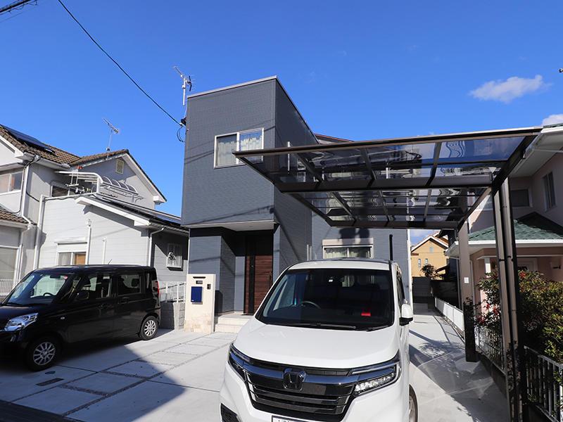 新築フォーセンス完成 カーポート|滋賀で家を建てるなら匠工房