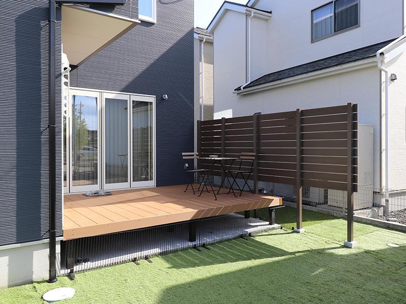 ゼロキューブ新築 ウッドデッキ|滋賀で家を建てるなら匠工房