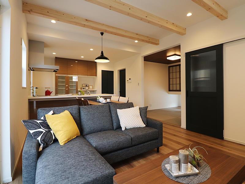 新築フォーセンス完成 リビング・ダイニング・キッチン|滋賀で家を建てるなら匠工房