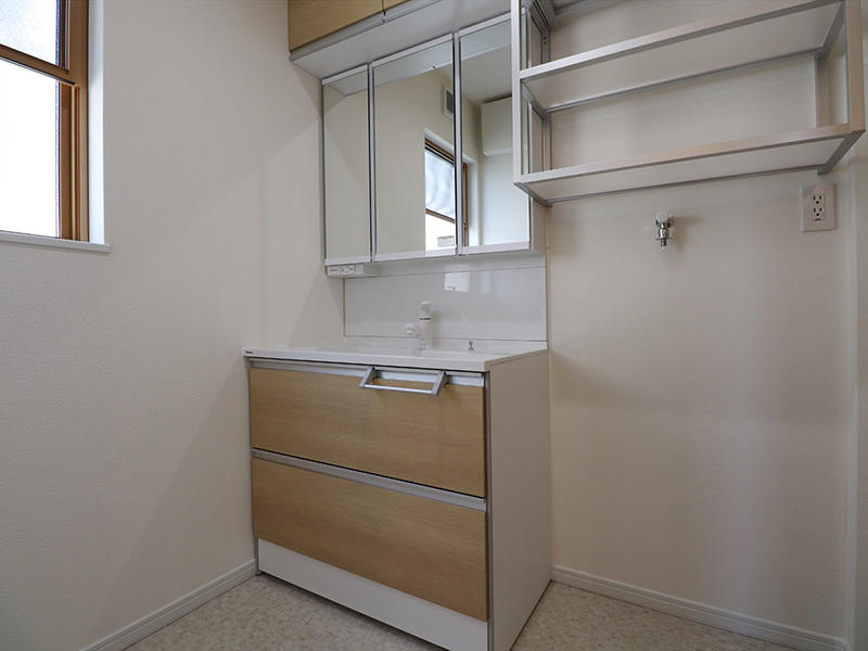 新築ゼロキューブ完成 洗面|滋賀で家を建てるなら匠工房