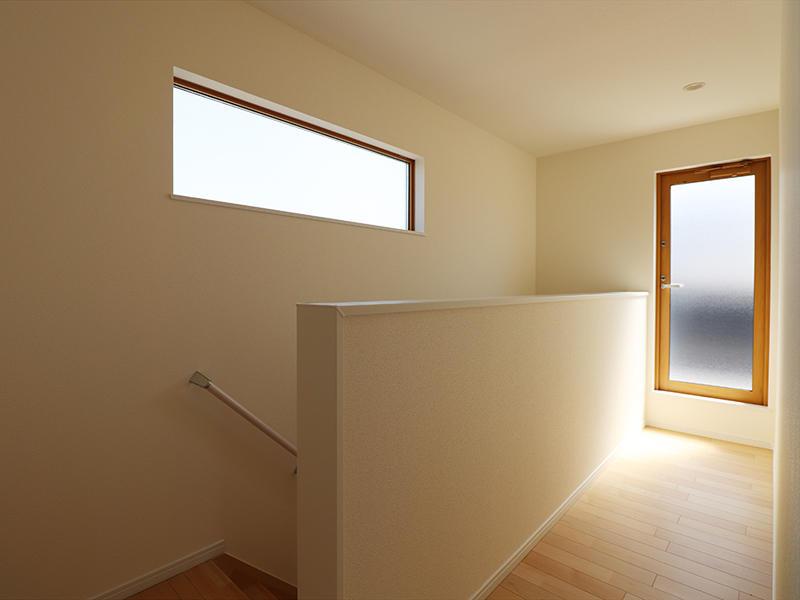 新築ゼロキューブ完成 2階廊下|滋賀で家を建てるなら匠工房