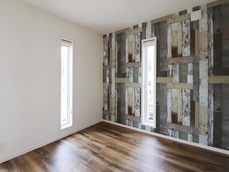 ゼロキューブ完成 洋室 アクセントクロス|滋賀で家を建てるなら匠工房