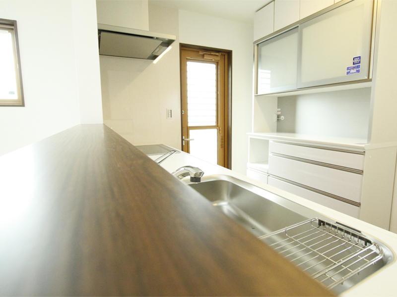 リビング キッチン カップボード 施工事例