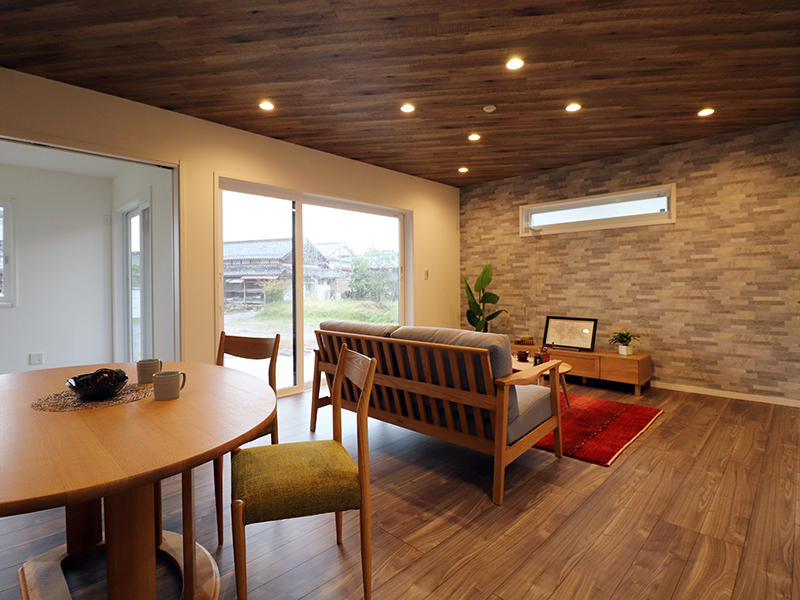 ゼロキューブ新築完成 リビング・ダイニング|滋賀で家を建てるなら匠工房