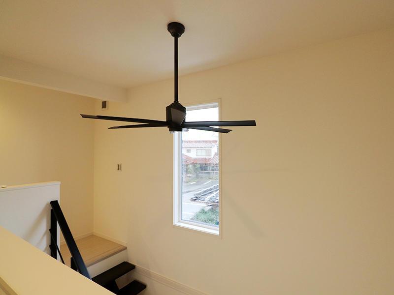 ゼロキューブ新築完成 シーリングファン|滋賀で家を建てるなら匠工房