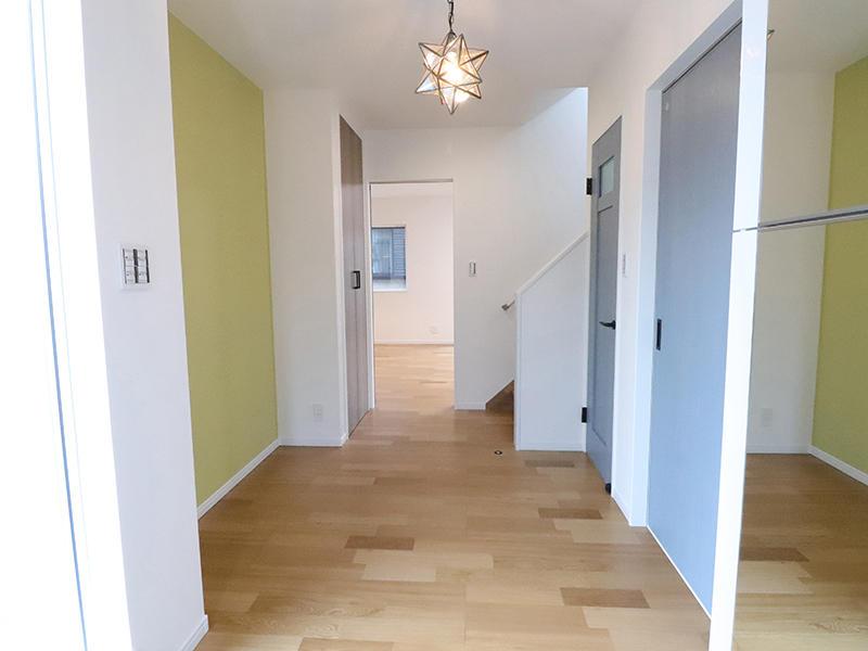 フォーセンス新築完成 アクセントクロス|滋賀で家を建てるなら匠工房